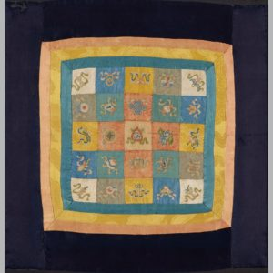 Silk Meditation Panel with Daoist Emblems