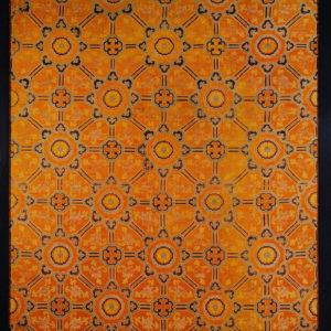A Red Silk Brocade Panel